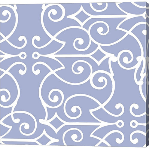 Kasbah Blue I Gallery Wrapped Canvas Wall Art On Deep Stretch Bars