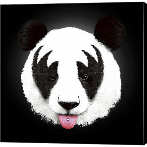 Metaverse Art Kiss Of A Panda Gallery Wrapped Canvas Wall Art