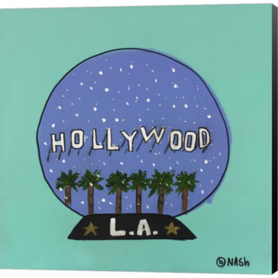 Metaverse Art L.A. Snow Globe Gallery Wrapped Canvas Wall Art