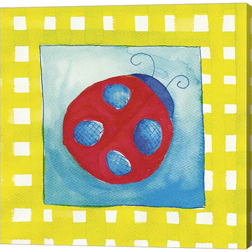 Ladybug Gallery Wrapped Canvas Wall Art On Deep Stretch Bars