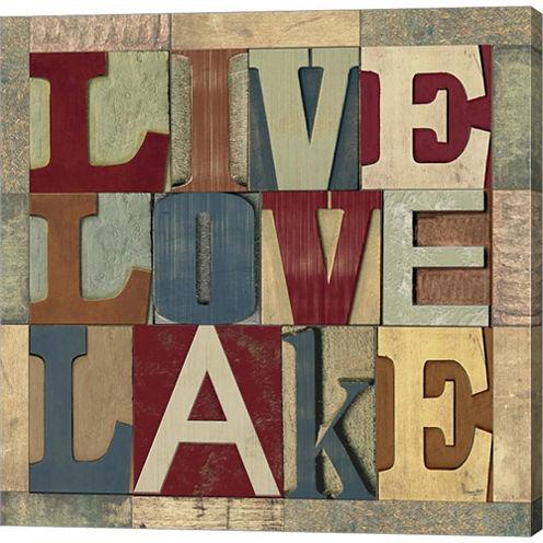 Lake Living Printer Blocks II Gallery Wrapped Canvas Wall Art On Deep Stretch Bars