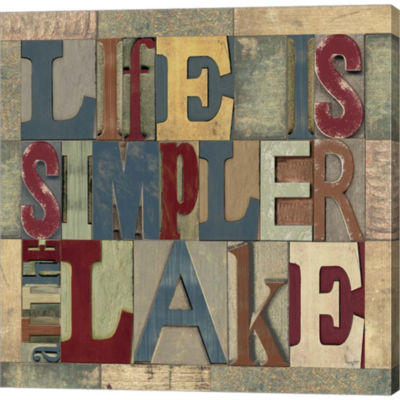 Metaverse Art Lake Living Printer Blocks III Gallery Wrapped Canvas Wall Art