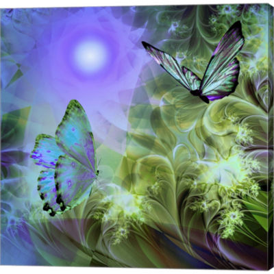 Metaverse Art Languid Journeys Blue Gallery Wrapped Canvas Wall Art