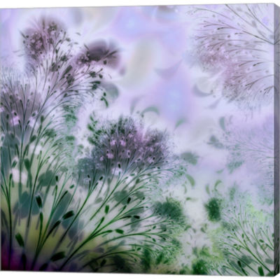 Metaverse Art Lavender Day Gallery Wrapped CanvasWall Art