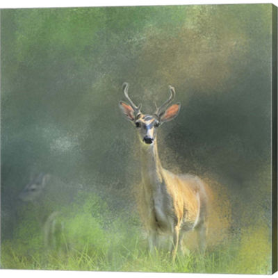 Metaverse Art Leader Of The Herd White Tailed BuckGallery Wrapped Canvas Wall Art