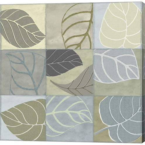 Leaf Story IV Gallery Wrapped Canvas Wall Art On Deep Stretch Bars