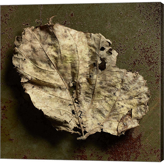 Metaverse Art Leaf Torn Gallery Wrapped Canvas Wall Art