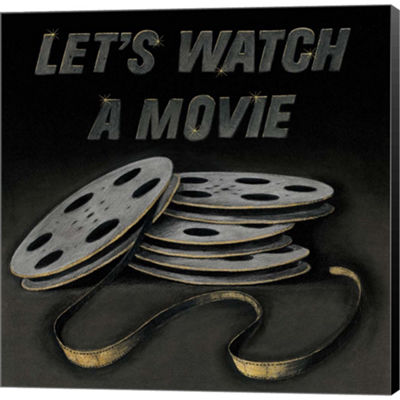 Metaverse Art Lets Watch A Movie Gallery Wrapped Canvas Wall Art