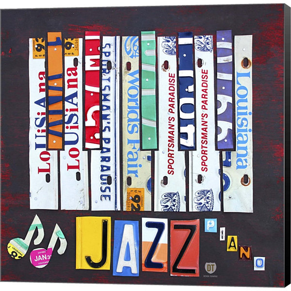 Metaverse Art License Plate Art Jazz Series PianoI Gallery Wrapped Canvas Wall Art