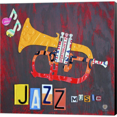 Metaverse Art License Plate Art Jazz Series PianoII Gallery Wrapped Canvas Wall Art