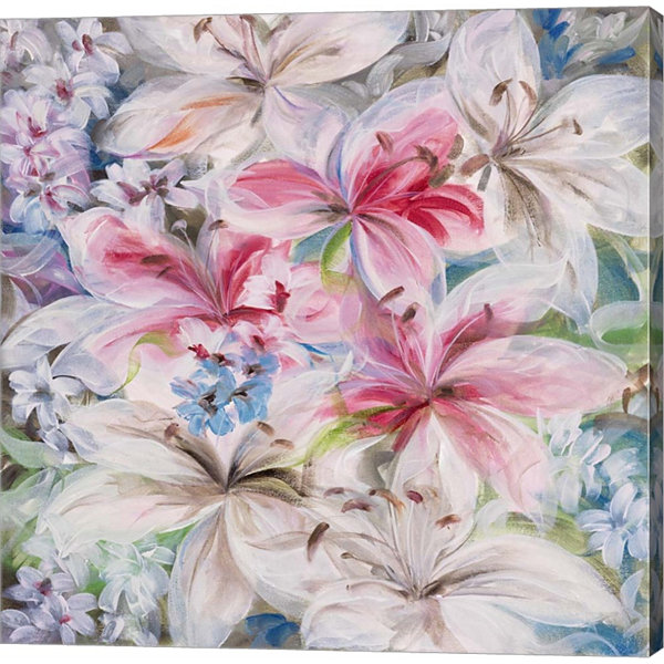 Metaverse Art Lily Patch Gallery Wrapped Canvas Wall Art