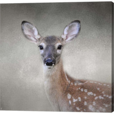 Metaverse Art Little Miss Lashes White Tailed FawnGallery Wrapped Canvas Wall Art