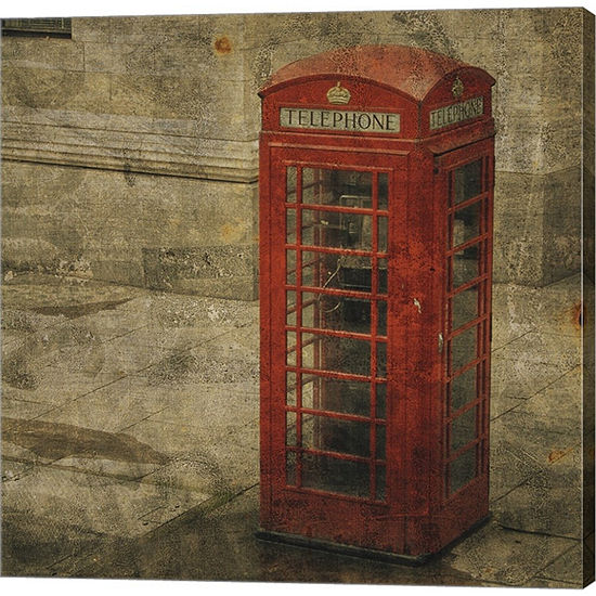 Metaverse Art London Calling Gallery Wrapped Canvas Wall Art