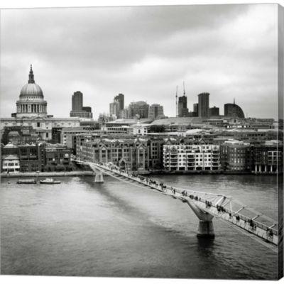 Metaverse Art London Millenium Bridge Gallery Wrapped Canvas Wall Art