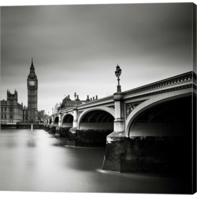 Metaverse Art London Westminster Gallery Wrapped Canvas Wall Art