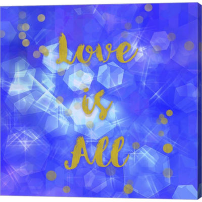 Metaverse Art Love Is All Gallery Wrapped Canvas Wall Art