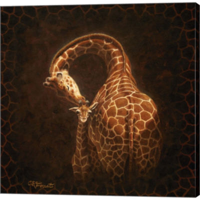 Metaverse Art Love's Golden Touch Gallery WrappedCanvas Wall Art