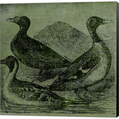 Metaverse Art Mallards Gallery Wrapped Canvas WallArt