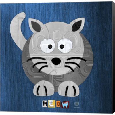 Metaverse Art Meow The Cat Gallery Wrapped CanvasWall Art