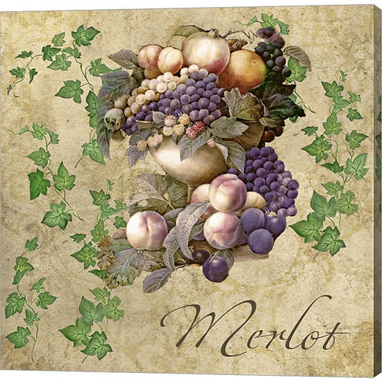 Metaverse Art Merlot Gallery Wrapped Canvas Wall Art