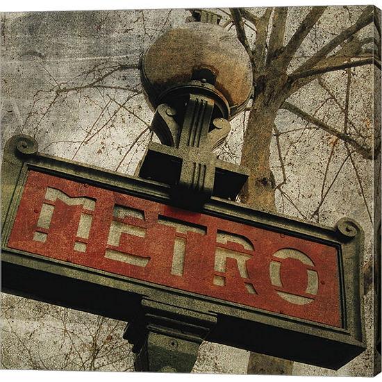 Metaverse Art Metro II Gallery Wrapped Canvas WallArt