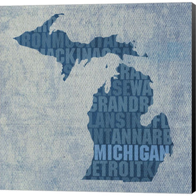 Metaverse Art Michigan State Words Gallery WrappedCanvas Wall Art