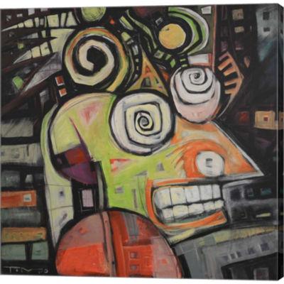 Metaverse Art Migraine Gallery Wrapped Canvas WallArt