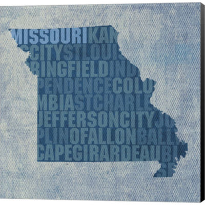Metaverse Art Missouri State Words Gallery WrappedCanvas Wall Art