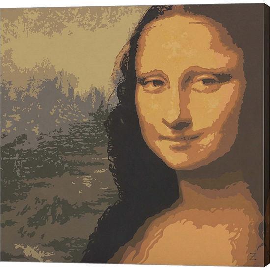Metaverse Art Mona Liza Gallery Wrapped Canvas Wall Art