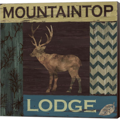 Metaverse Art Mountain Lodge Gallery Wrapped Canvas Wall Art