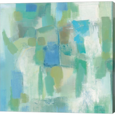 Metaverse Art Mountain Spring Gallery Wrapped Canvas Wall Art