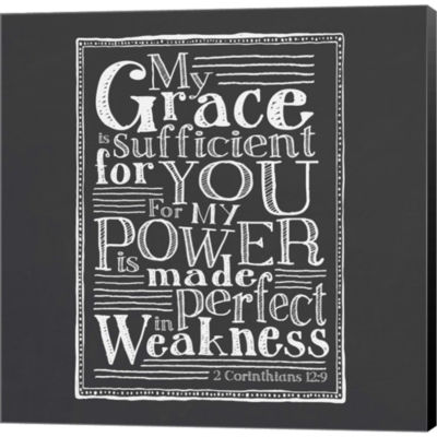 Metaverse Art My Grace Is Sufficient Gallery Wrapped Canvas Wall Art