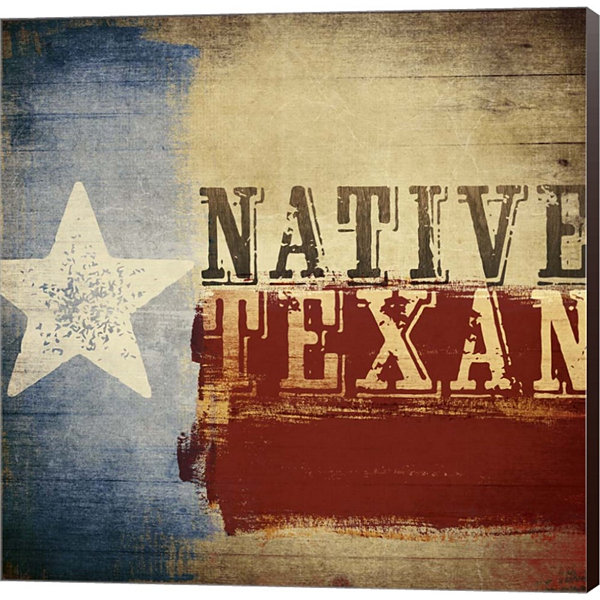 Metaverse Art Native Texan Gallery Wrapped CanvasWall Art
