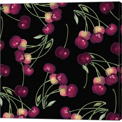 Metaverse Art Nature's Bounty  Cherries Gallery Wrapped Canvas Wall Art