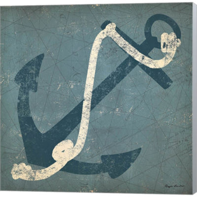 Metaverse Art Nautical Anchor Gallery Wrapped Canvas Wall Art