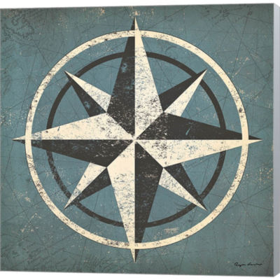 Metaverse Art Nautical Compass Gallery Wrapped Canvas Wall Art