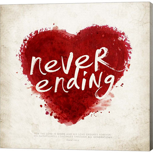 Never Ending Love Gallery Wrapped Canvas Wall ArtOn Deep Stretch Bars