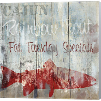 Metaverse Art New Orleans Seafood III Gallery Wrapped Canvas Wall Art