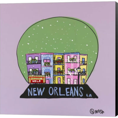 Metaverse Art New Orleans Snow Globe Gallery Wrapped Canvas Wall Art