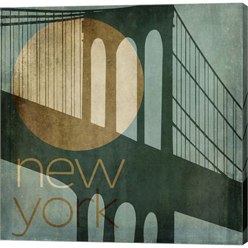 New York Gallery Wrapped Canvas Wall Art On Deep Stretch Bars