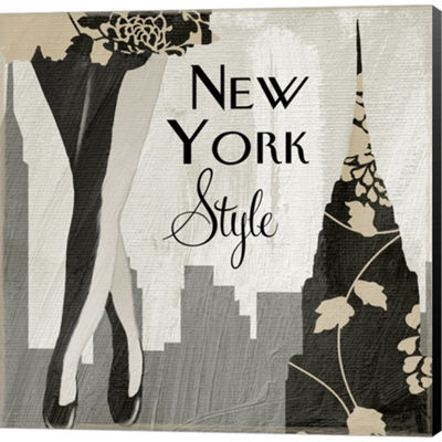 Metaverse Art New York Style I Gallery Wrapped Canvas Wall Art