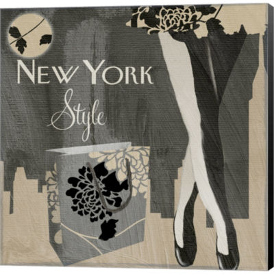 Metaverse Art New York Style II Gallery Wrapped Canvas Wall Art