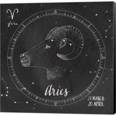 Metaverse Art Night Sky Aries Gallery Wrapped Canvas Wall Art
