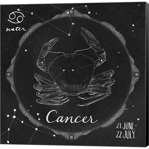 Metaverse Art Night Sky Cancer Gallery Wrapped Canvas Wall Art