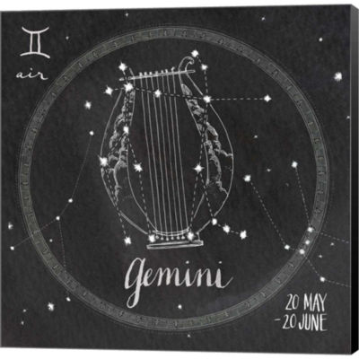 Metaverse Art Night Sky Gemini Gallery Wrapped Canvas Wall Art