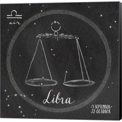 Metaverse Art Night Sky Libra Gallery Wrapped Canvas Wall Art
