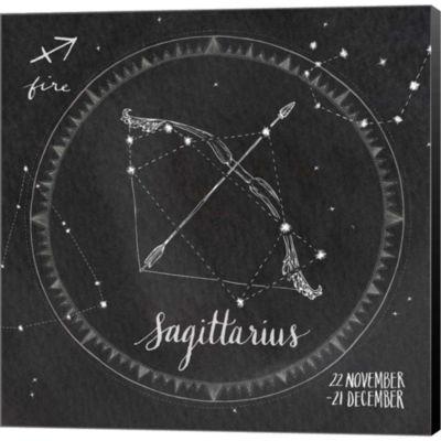 Night Sky Sagittarius. Gallery Wrapped Canvas WallArt On Deep Stretch Bars