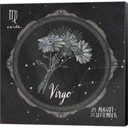 Night Sky VIrgo Gallery Wrapped Canvas Wall Art OnDeep Stretch Bars