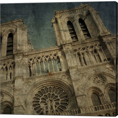Metaverse Art Notre Dame Gallery Wrapped Canvas Wall Art