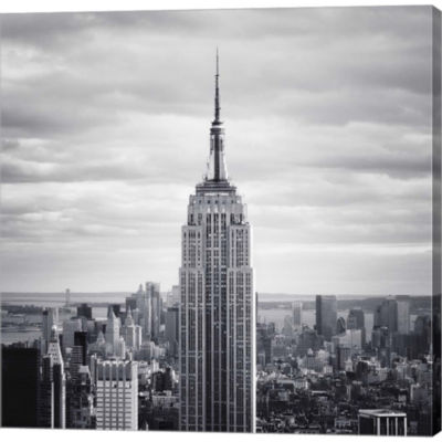 Metaverse Art NYC Empire Gallery Wrapped Canvas Wall Art